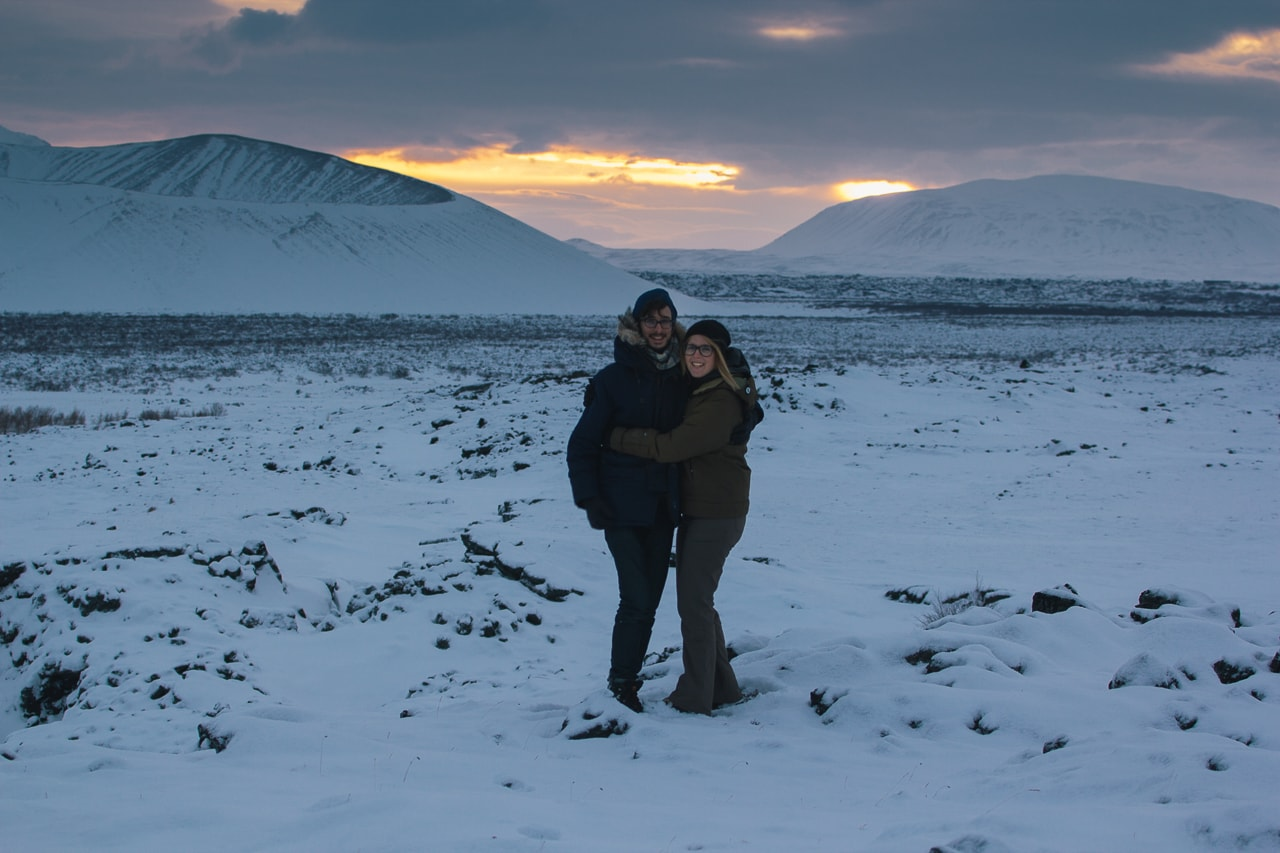 Iceland winter road trip - Hverfjall Volcano Crater - by Conscious by Chloé