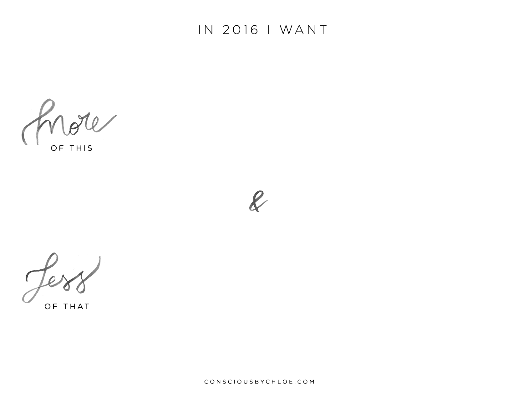 2016 intentions planner for download by Conscious by Chloé