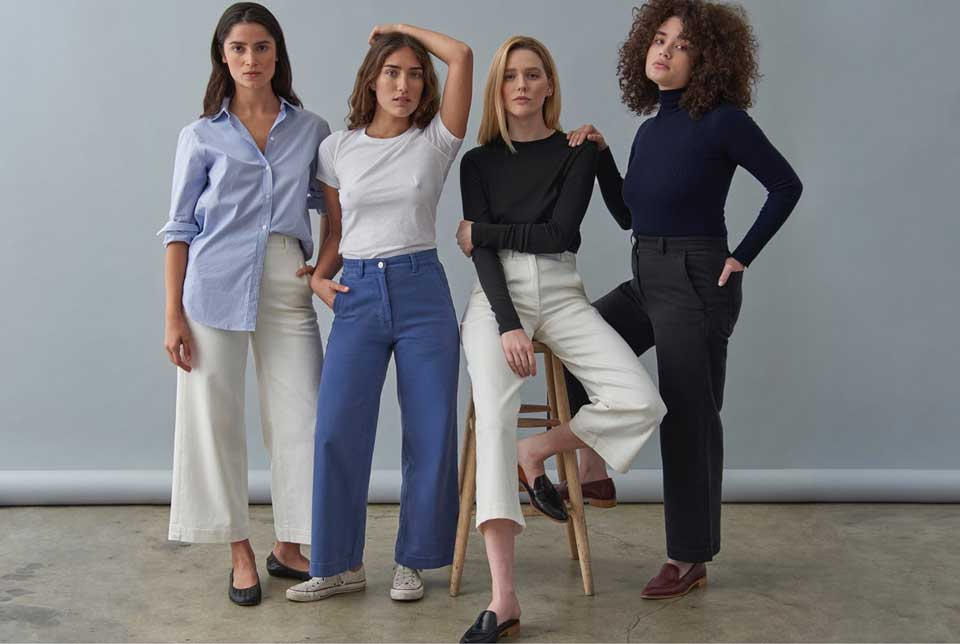 Wide Crop Leg Pants by Everlane for Conscious by Chloé