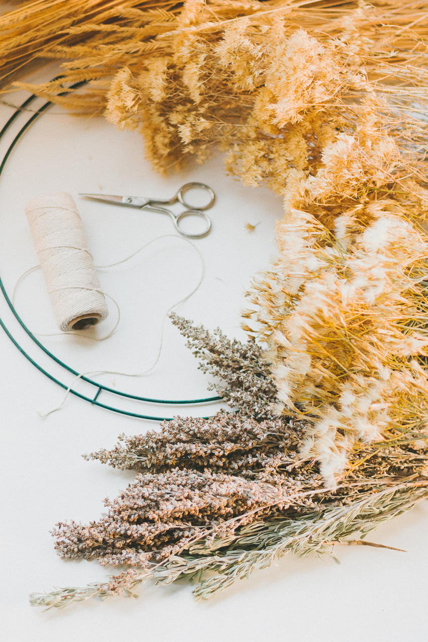 Foraged Wreath DIY by Conscious by Chloé