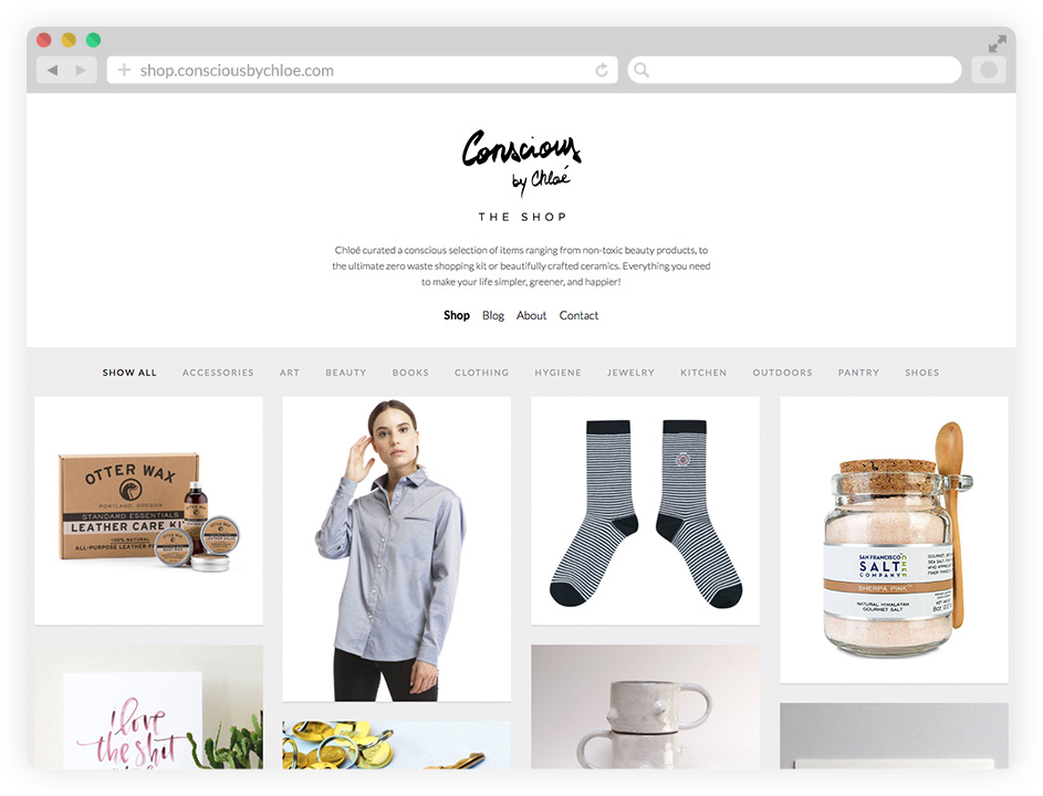 Consciously curated shop by Conscious by Chloé