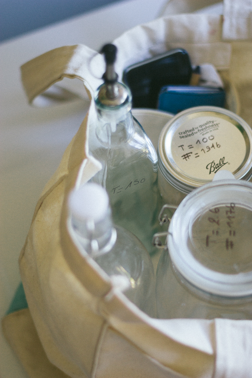The Ultimate Zero Waste Shopping Kit with Mason Jars and Swing Top Bottles by Conscious by Chloé
