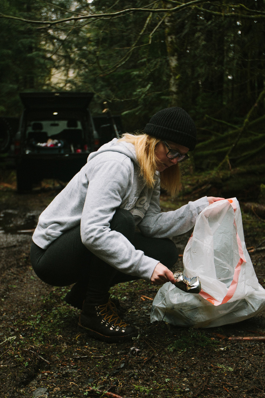 Snoqualmie National Forest WA clean up by Conscious by Chloé