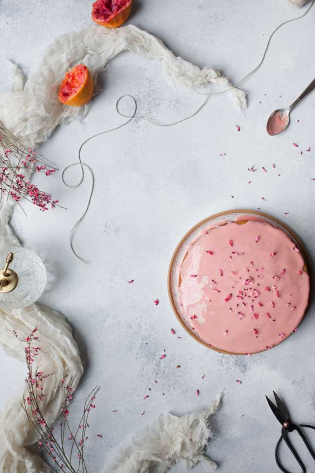 Blood Orange Olive Oil Cake by Kayleigh Kosmas for Conscious by Chloé