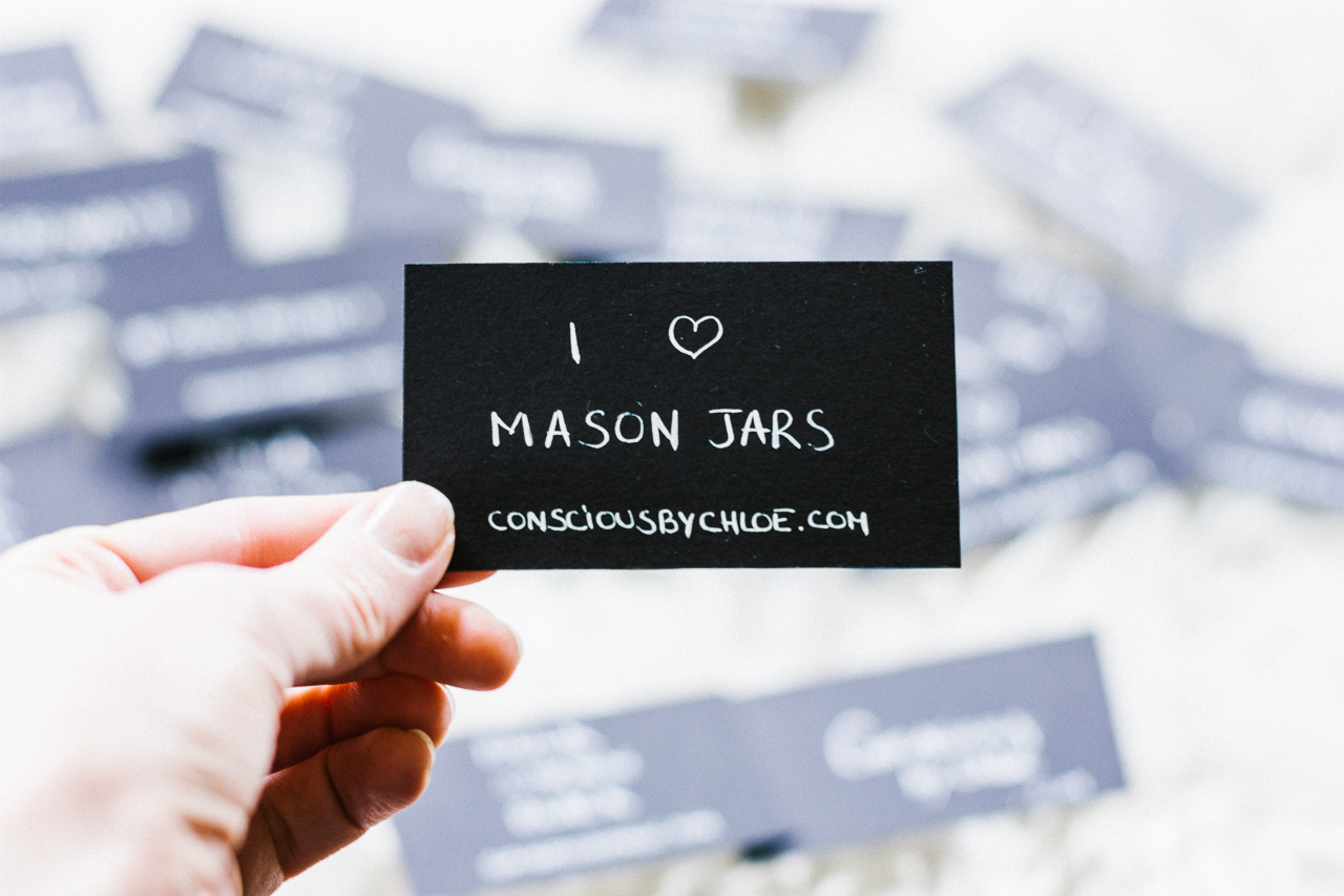 DIY business cards by Conscious by Chloé