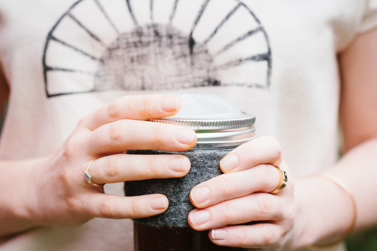 Mason jar cozy by Conscious by Chloé