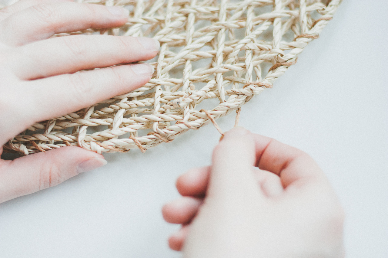 A Budget-Friendly Ikea Hack Straw Bag DIY by Conscious by Chloé