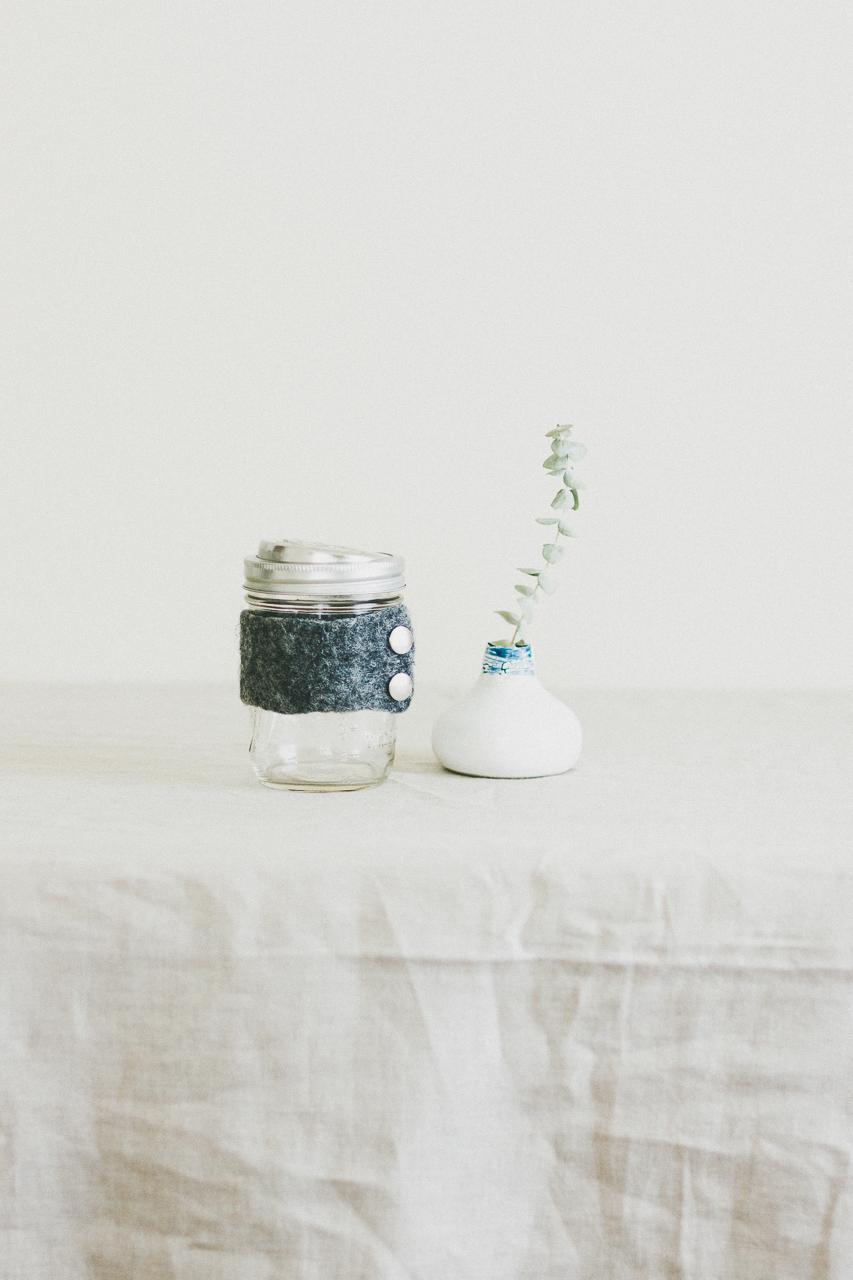 Mason Jar with Ecojarz Drink Top by Conscious by Chloé